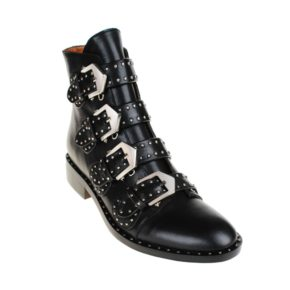 Buurman-Street-Style-Shoes-LEWIS-Studded-And-Buckle-Biker-Ankle-Boots