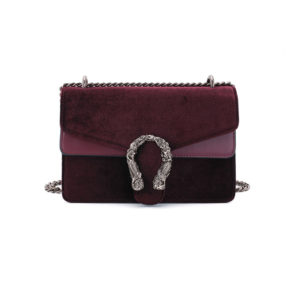 Jessica-Buurman-Street-Style-Bags-NIKOL-Mermaid-Lock-Velvet-And-Leather-Cross-Body-Bag-Burgundy-Red-Large