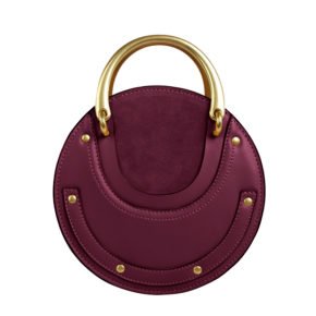Jessica-Buurman-Street-Style-Bags-REAN-Studded-Round-Cross-Shoulder-Bag-Burgundy-Red