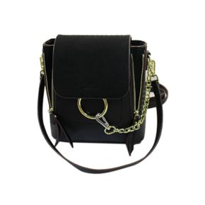 Jessica-Buurman-Street-Style-Bags-RYMAL-Ring-Suede-And-Leather-Shoulder-Bag-black