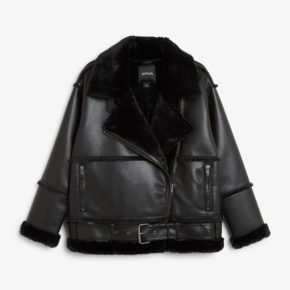monki shearling jacket