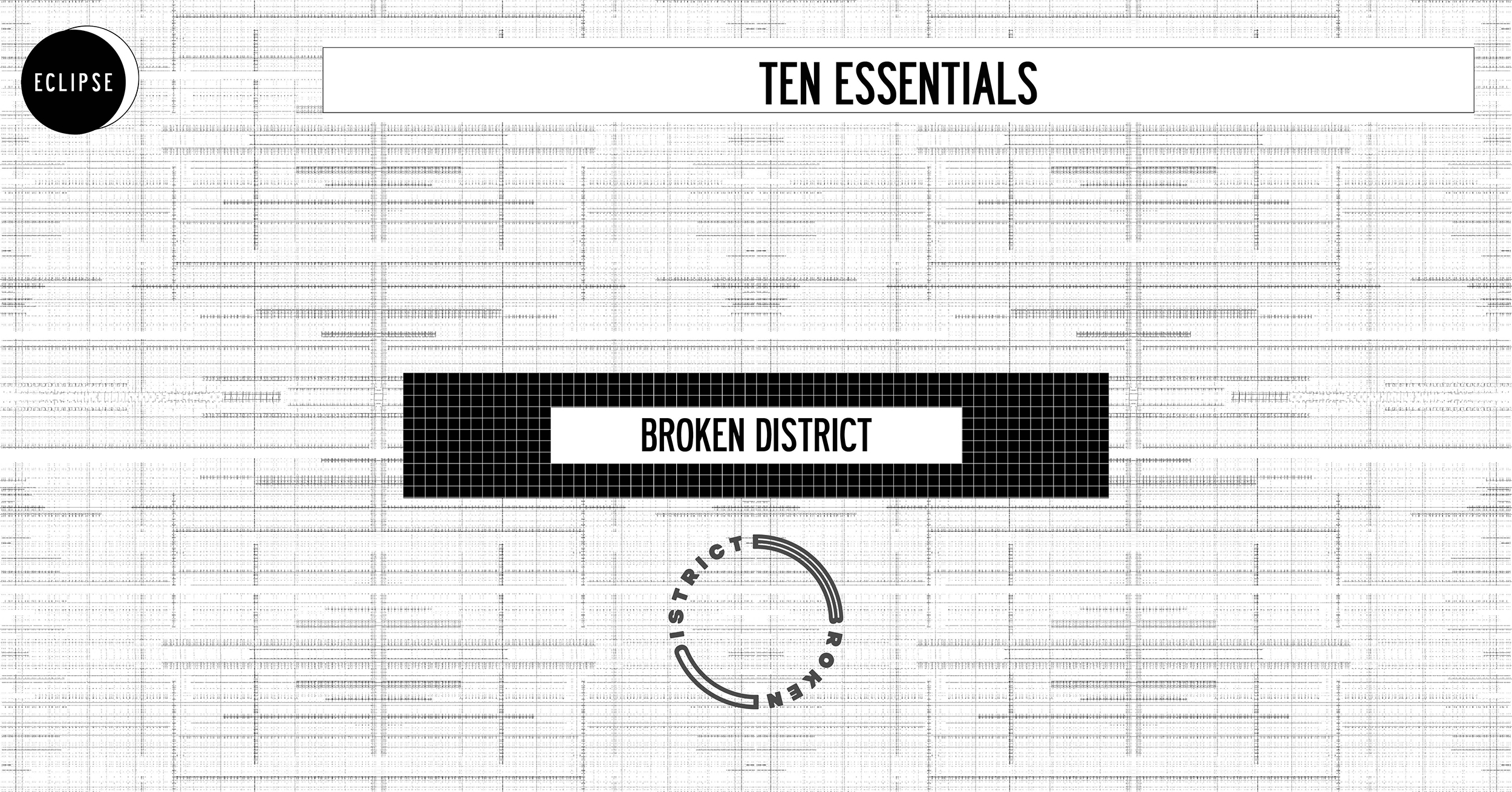 COVER TEN ESSENTIALS BROKEN DISTRICT